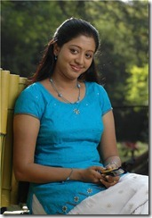 gopika in blue dress