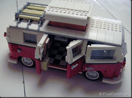 Höjbart tak öppna dörrar Lego 10220 Volkswagen T1 Camper Van Bilder