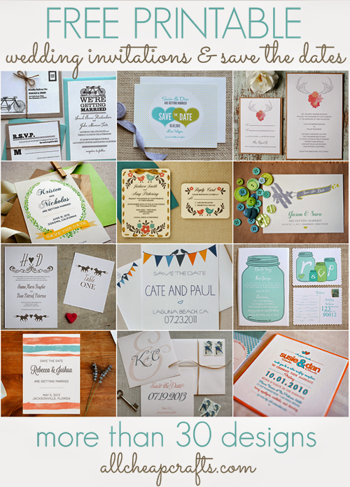 30  Free Printable Wedding Invitations