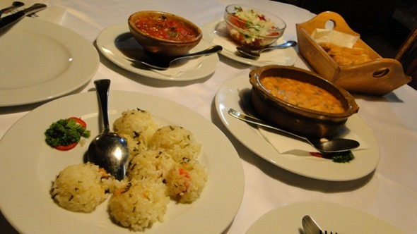 Jantar no Restaurante Antiko