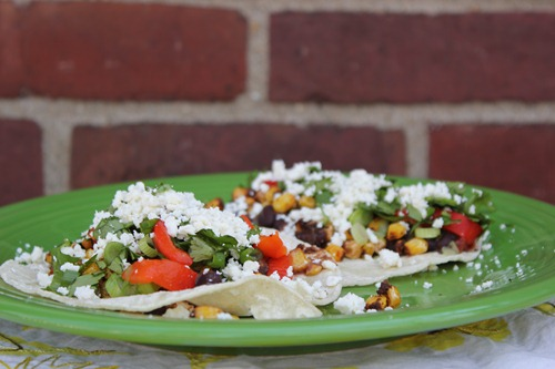 black bean roasted corn tacos