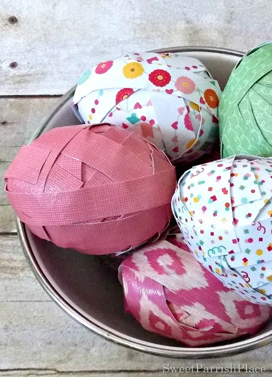 Craft Paper Easter Eggs1