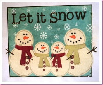 Let It Snow Transfer Paper