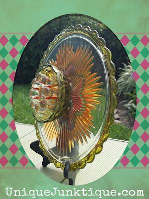 vintage glass flower art