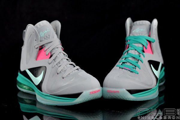 The Showcase LeBron 9 PS Elite 8220Miami Vice8221 w Lace Swaps