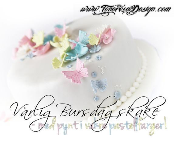vårlig bursdagskake med pynt i vakre pastellfarger IMG_7544