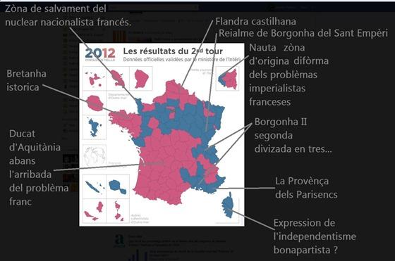 resultas de las eleccions 2012 en mapa