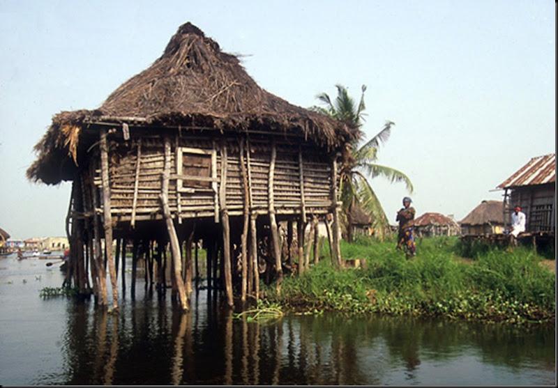 Ganvie, the piles, Benin
