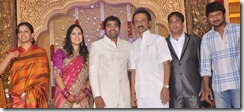 Krithika, Udhayanidhi, Stalin at Mirchi Shiva Wedding Reception Stills