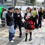 Gothic lolita fashion in Harajuku in Harajuku, Tokyo, Japan