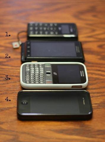 four phones