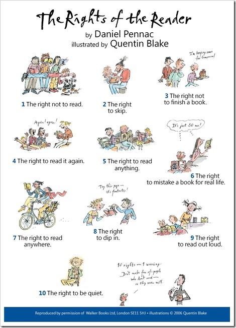 Los derechos del lector, según Daniel Pennac