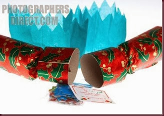 broken open christmas cracker with hat joke and novelty item usually used at christmas