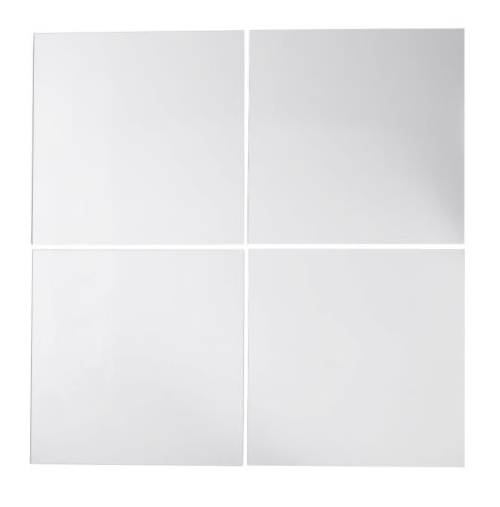 I'd love to see Kerstin put these mirror tiles in the back of each level of her bar. (ikea.com)