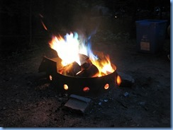 7432 Restoule Provincial Park - evening fire