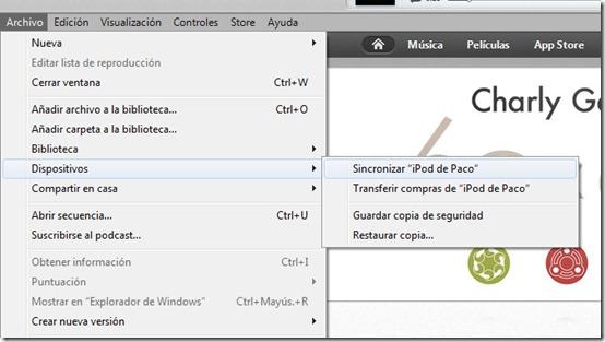 Sincronizar en Windows con iTunes 11
