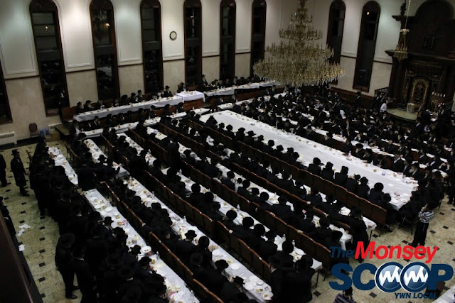 Yartzheit Tish For Stamar Rebbe Held In Satmar Beis Medrash Of Monsey (Photos by Moshe Lichtenstein) - IMG_5461.JPG