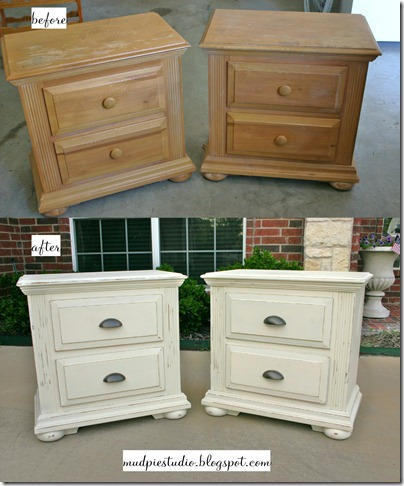 Mud pie studio furniture makeover with chalk paint Paint wood furniture