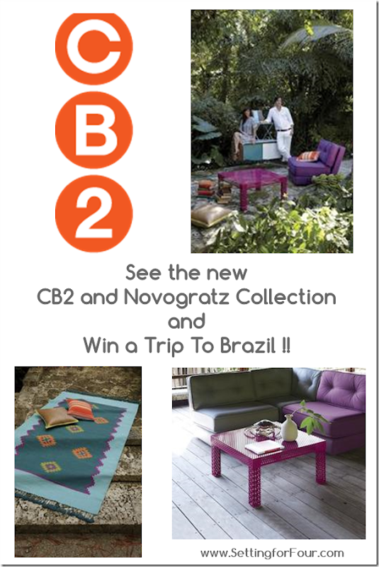 CB2 and Novogratz Collection and Win A Trip To Brazil from Setting for Four