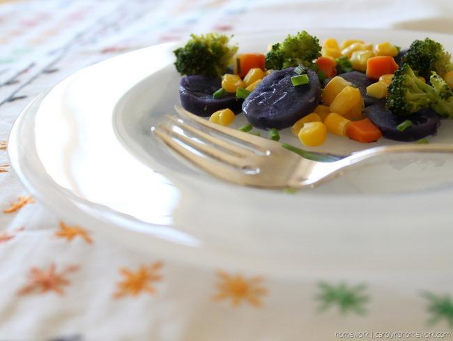 Purple Potato Vegetable Medley via homework - carolynshomework (3)