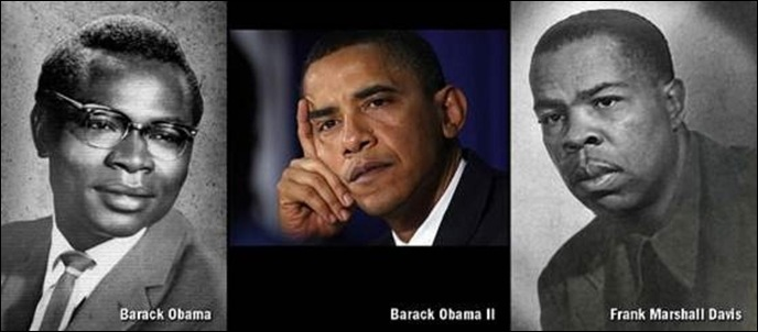 Obama Pres KenyanDad left Mentor and mother nude photographer Frank Marshall Davis right