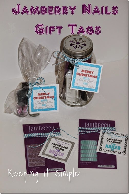 Jamberry nails gift with printable tags