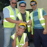 Coggins Construction' team who took part in the Traders' Race in the Crossmolina Festival. The event was sponsored by Ballina Beverages Coca-Cola. Picture: John O'Grady.