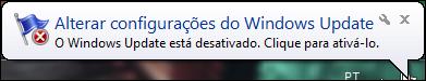 Windows Update está desativado