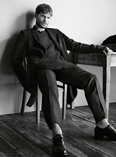 Jamie Dornan @ Select Models photographed by Karim Sadli and styled by Joe McKenna for T Emirates New York Times Style Magazine, Nov/Dec 2013