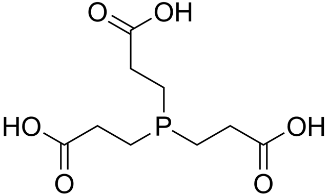 Chemical structure of tris(2-carboxyethyl)phosphine (TCEP). Graphic: Edgar181 / Wikipedia
