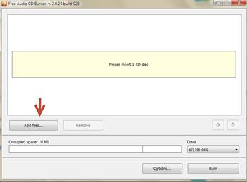 วิธี burn audio file ลง cd