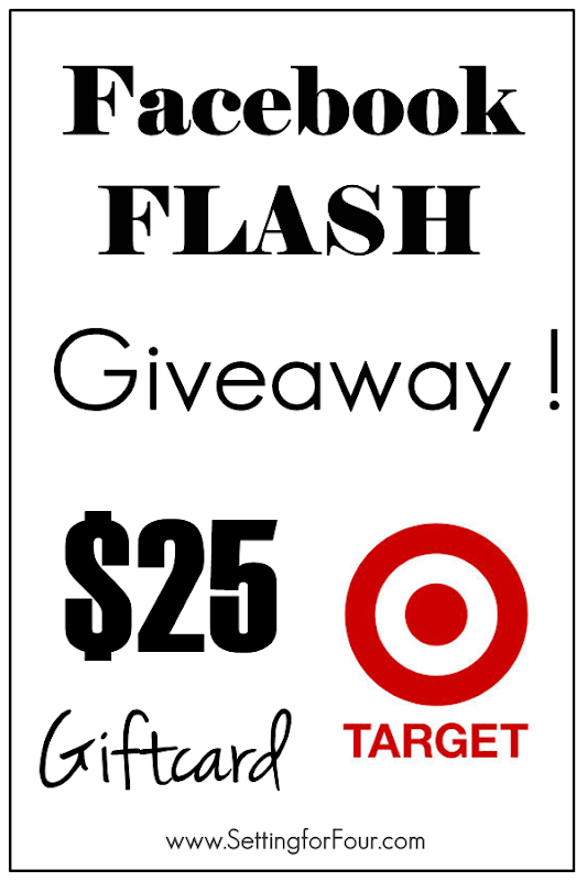 Facebook Flash Giveaway fun ~ $25 Target Giftcard on Setting for Four