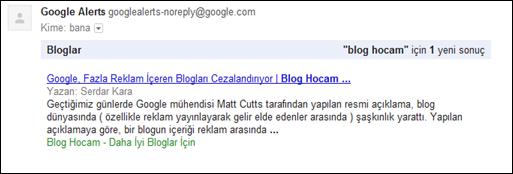 Google Alerts Yazım İndekslendimi?