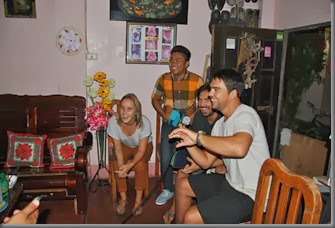 singing karaoke with friends travelling phillippines