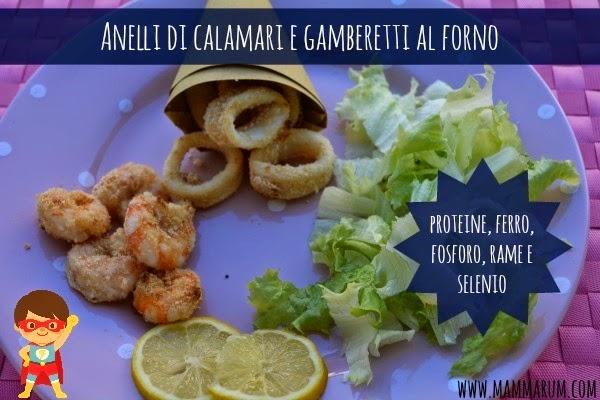 ricetta calamari gamberi forno bambini