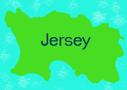 Jersey, Channel Islands -- simple map