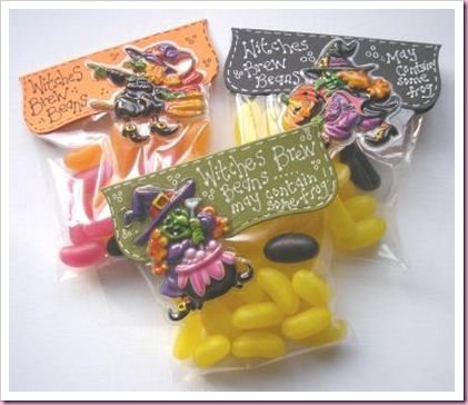 halloween Favour Treat Bag Witches Brew Beans