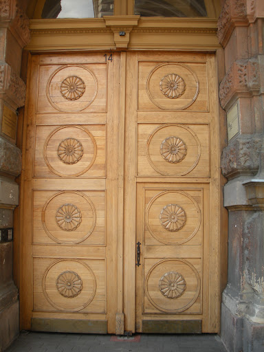 The woodwork on this set of doors is amazing. (Budapest)