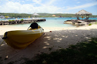 Kayak on Coral Cove beach