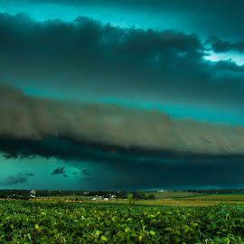 Evil Storm by Nick Neben - Landscapes Cloud Formations ( farm, thunderstorm, hdr, nikon, storm, nebraska,  )