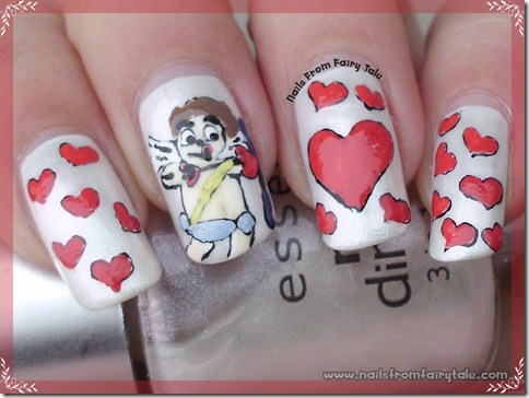 cupid nail art 3
