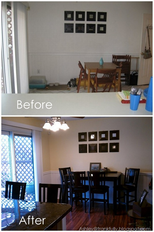 Ashley's kitchen before and after