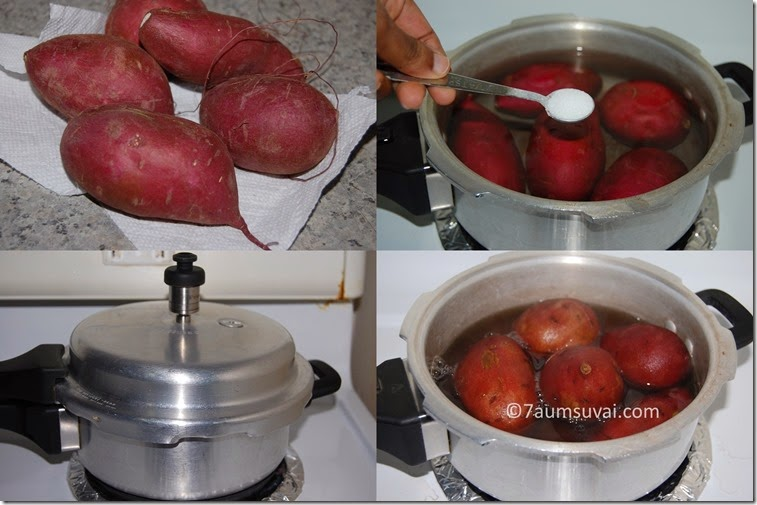 Sweet potato - Pressure cook method