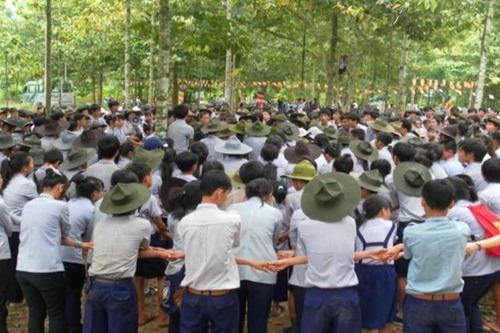 Dây thân ái - nghi lễ chia tay truyền thống của GĐPT