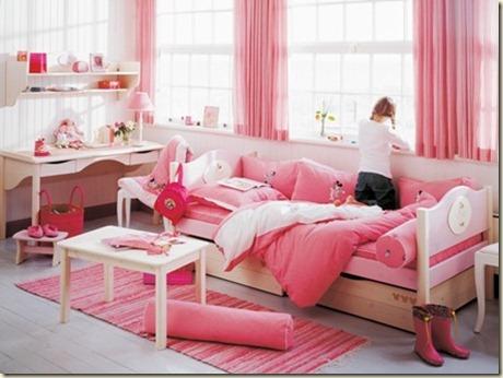 decoracion de dormitorio de bebe niña-g
