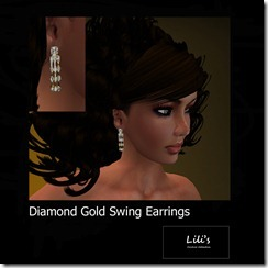 Lili's Diamond Gold Swing Earrings