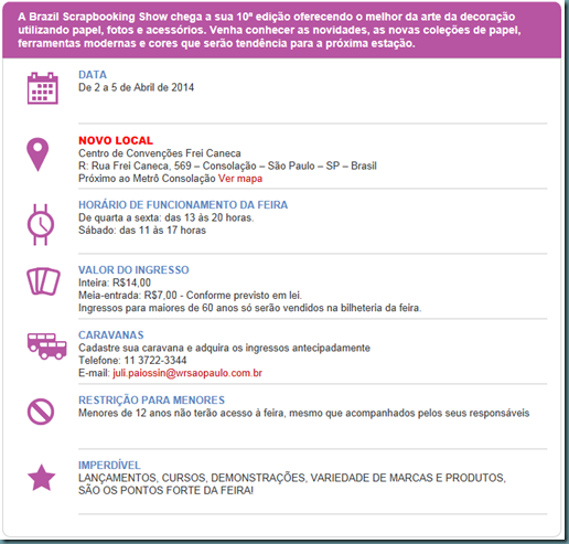11ª BrazilScrapbookingShow-2014-dicas