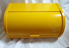 Yellow sliding top bread box