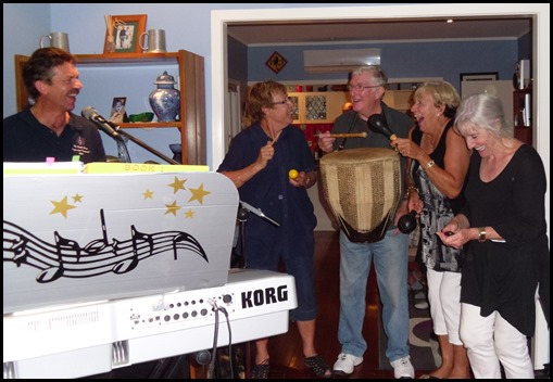 And the band played on! Left to Right: Peter Littlejohn, Yvonne Moller, Gordon Sutherland, Jan Johnston, Delyse Whorwood.