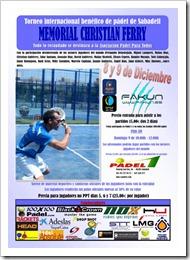 Memorial Christian Ferry: 8 y 9 diciembre de 2012 en el Club Pádel 1 de Sabadell.